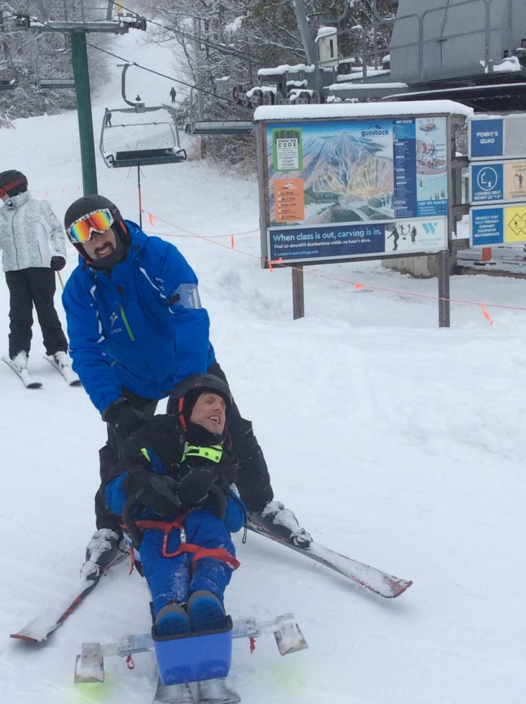 Enjoying a day of skiing