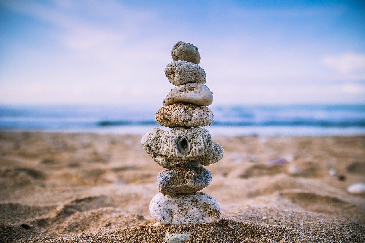 beach, balance, wallpaper